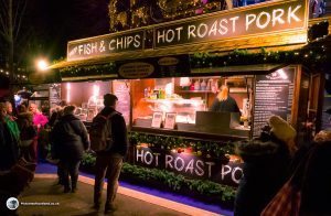 Edinburgh Christmas Market - foodstand