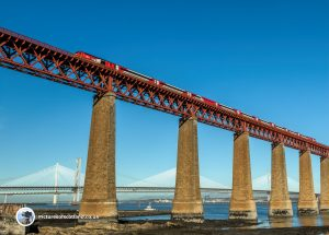 Train heading South from the Forth Bridge