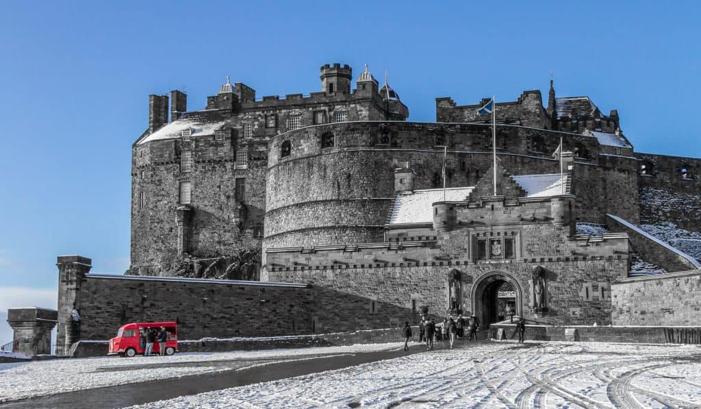 Edinburgh Castle on a Snowy Day