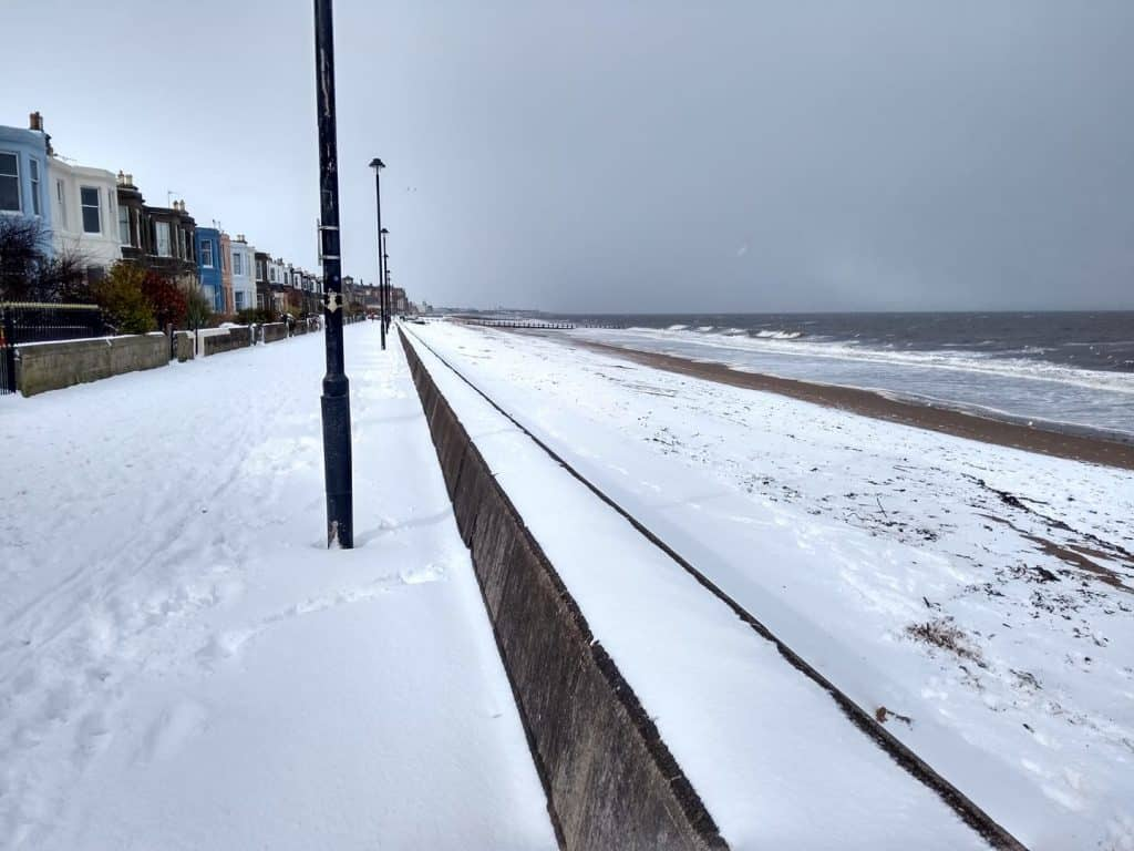 Portobello Beach (in the snow)