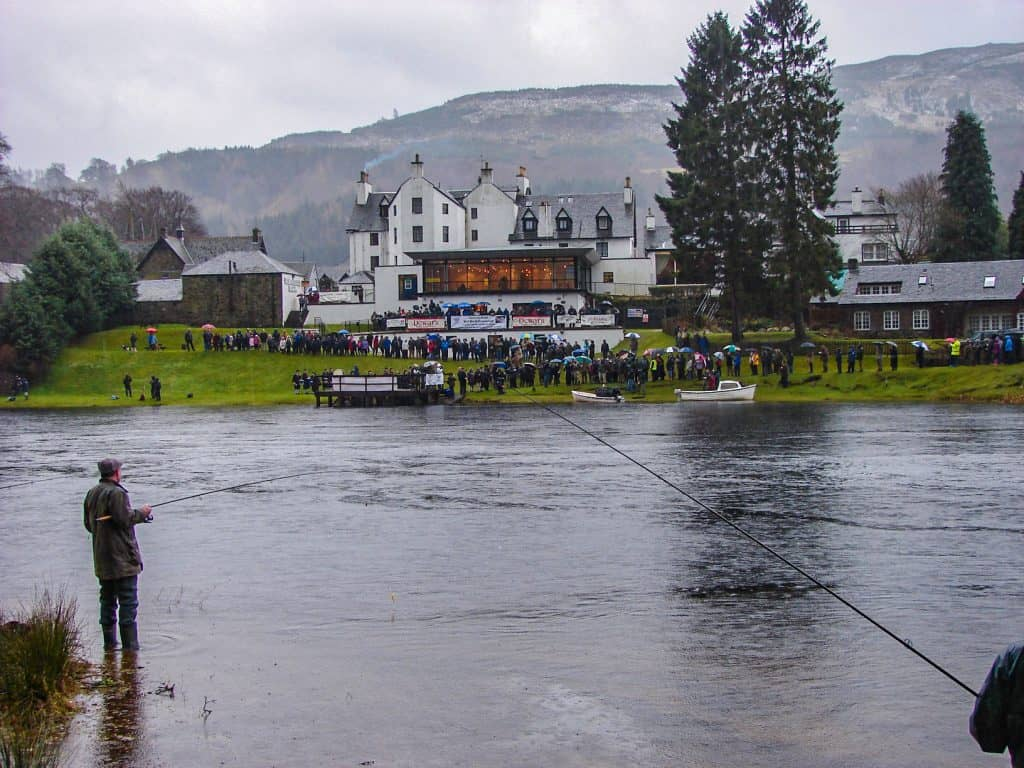 Opening Day for Salmon Fishing on the River Tay