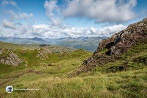 First glimpse of Loch Katrine from Ben Venue