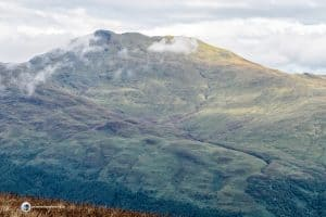 From the top of Beinn Dubh, you get a great view of Ben Lomond