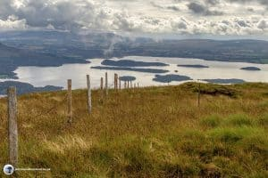 Nearing the Beinn Dubh Summit, the views of the loch are stunning.
