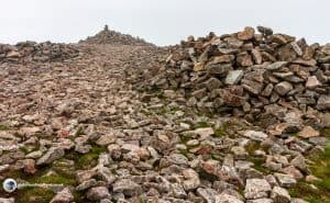 Scald Law - At the top of Carnethy hill is an enormous cairn.