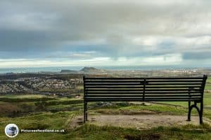 The view of Edinburgh before tackling Caerketton Hill
