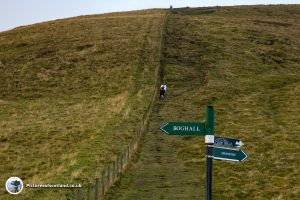 The steep route up Caerketton hill