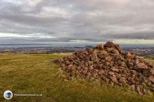 The summit of Caerketton Hill