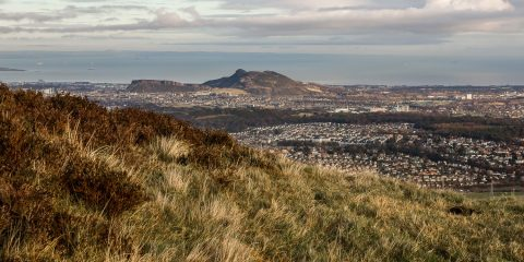 Edinburgh from Allermuir hill