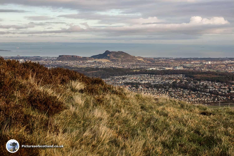 Edinburgh from Allermuir hill