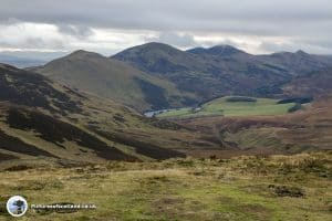 Looking back towards Scald Law, Carnethy Hill and Glencorse