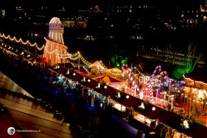Edinburgh Christmas Market - Looking down from the top level