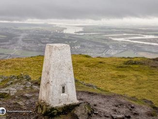The view from the summit of Dumyat hill