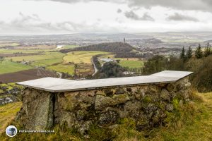 Stone bench and viewpoint