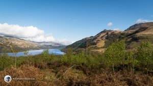 Looking towards the Tarbet end of Loch Lomond from Ben Lomond