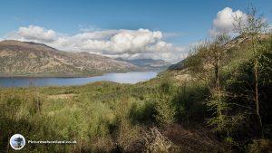 Looking towards the Tarbet end of Loch Lomond from Ben Lomond