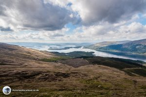 Looking over the Loch Lomond islands
