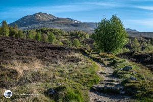 Beinn Ghlas has to be climbed first