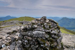 Looking back from the summit of Ben Vorlich