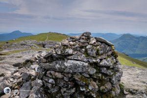 Looking back from the summit of Ben Vorlich