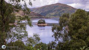Glen Finglas reservoir with Ben Ledi behind it