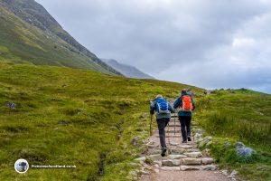 Start of the Ben Nevis climb